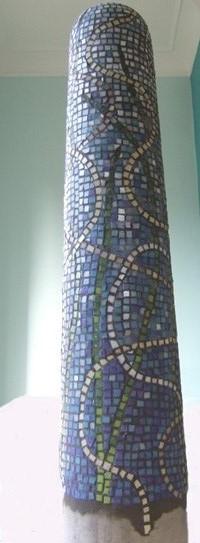 mosaic bollard