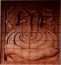 terracotta mural